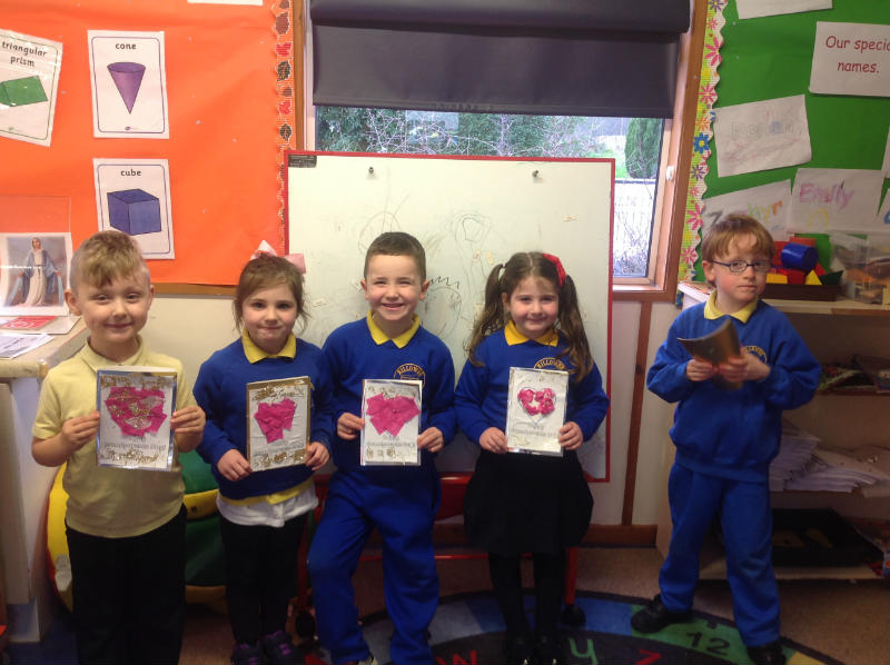 Primary 1 pupils made cards for their Grandparents!