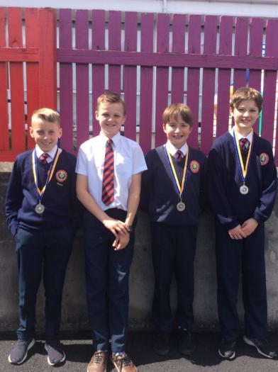 U12 Boys Relay Team 2017 - Silver Medal Winners