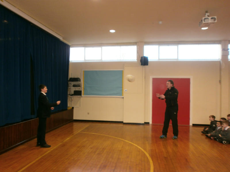 Brandon being put through his paces by Mr Loane