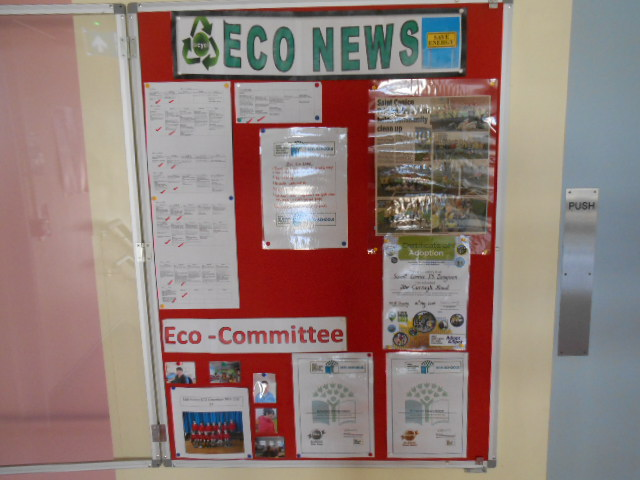 Our ECO noticeboard.