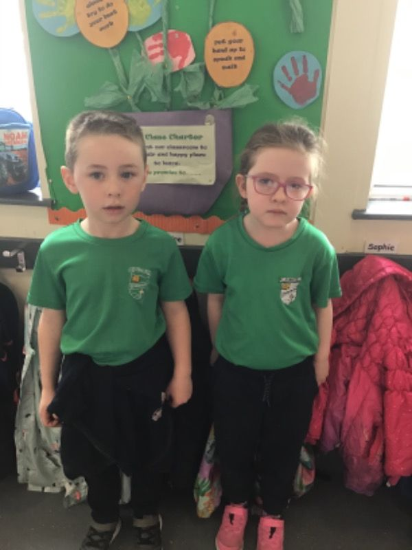 Primary 1.  T.J Grimley and Aeryn McLoughlin