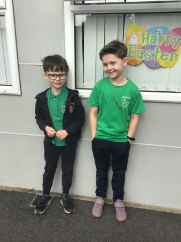 Primary 3.  Oisin Fearon and Lewis O'Brien