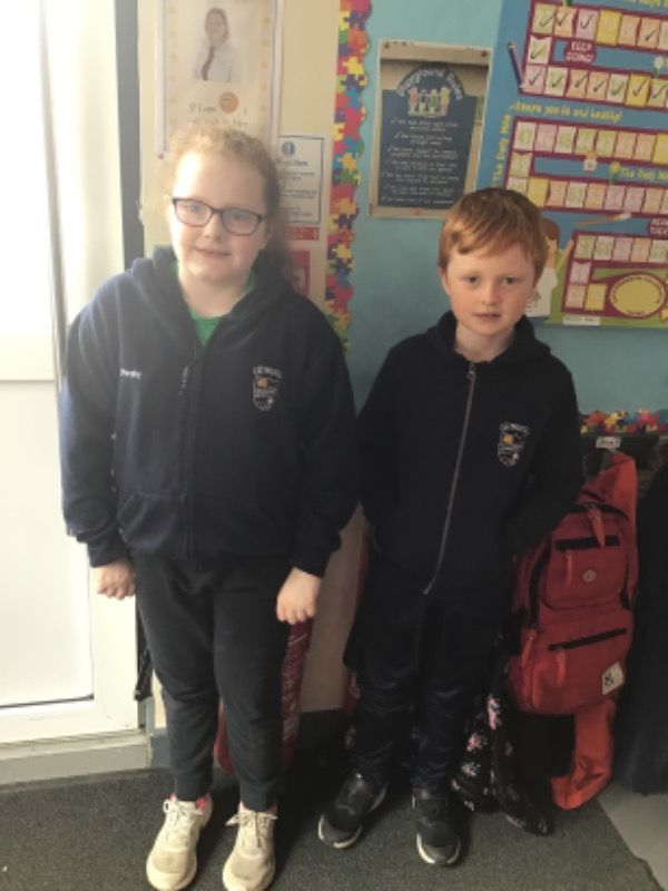Primary 4.  Shea Nugent and Clodagh Murphy