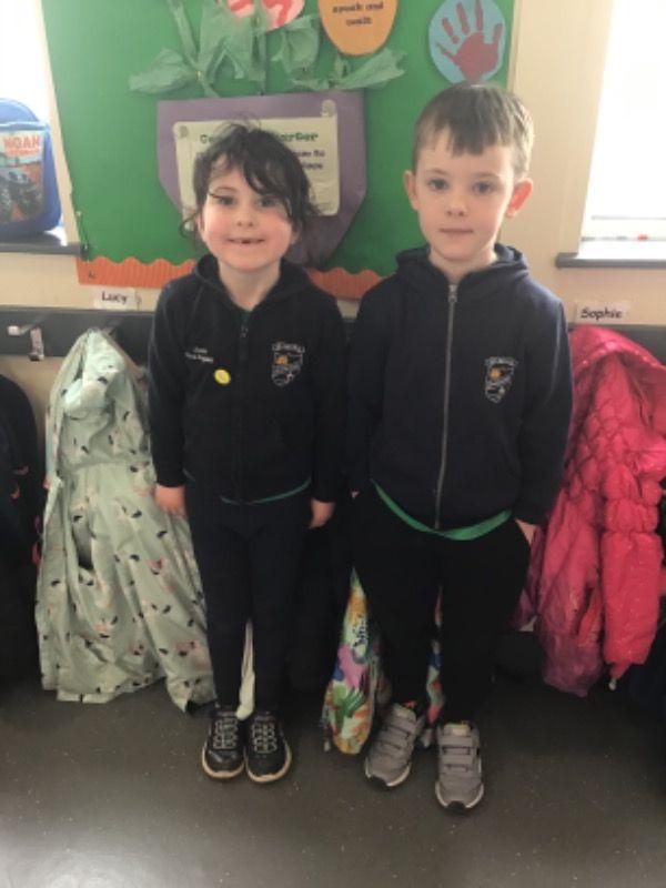 Primary 2.  Clara O'Callaghan and Louis O'Brien