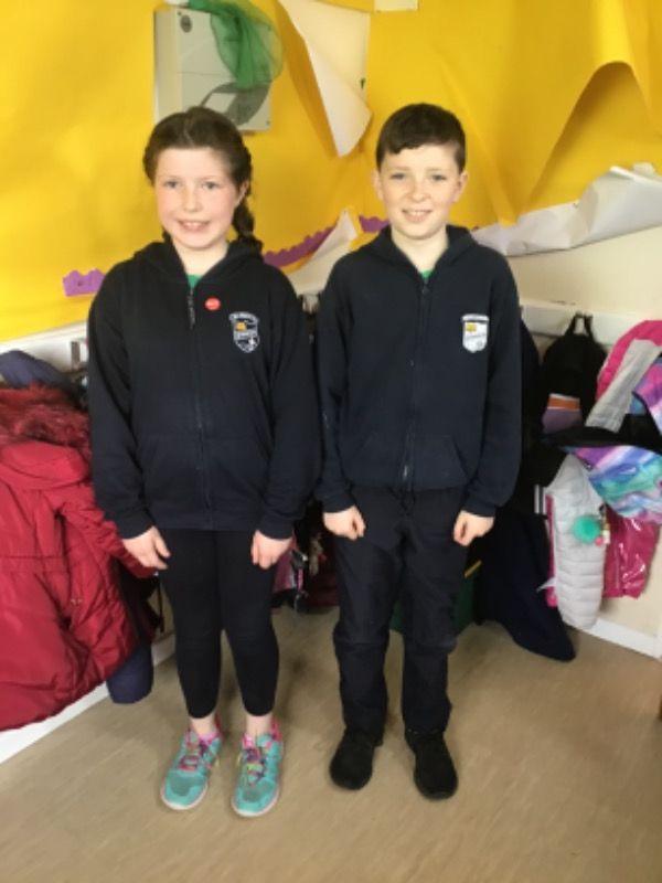 Primary 6.  Ava-Louise Lappin and John-Joe Rice