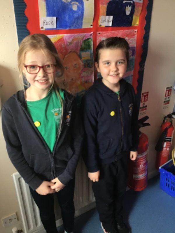 Primary 5. Cara Murphy and Isla Doyle
