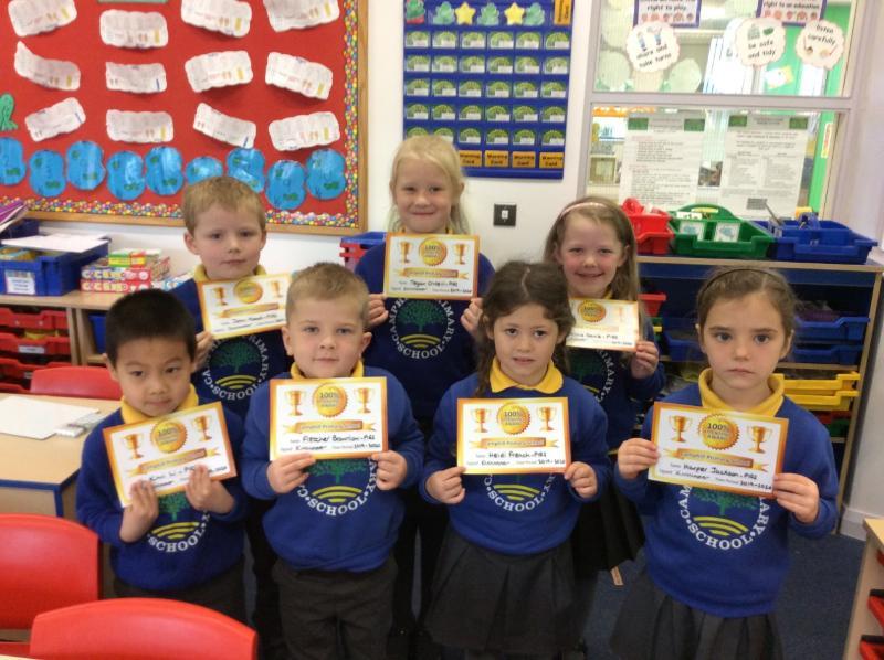 P2LA Gold Attendance winners