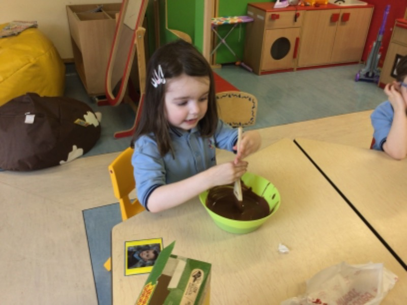 We are making Easter nests