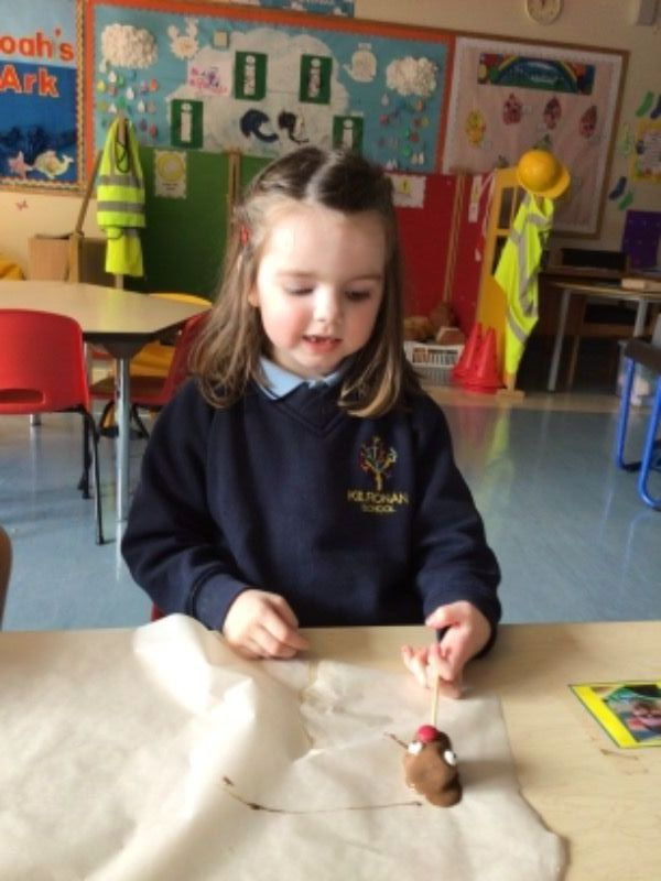 Making Red Nose Day chocolate pops