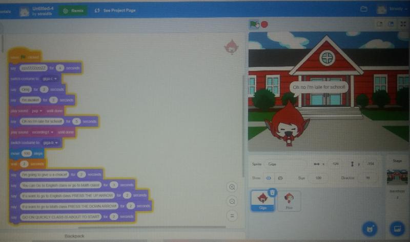 Using Scratch 3.0.