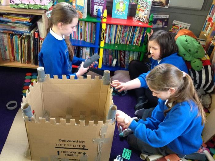 Busy making a fantastic castle as part of their topic work