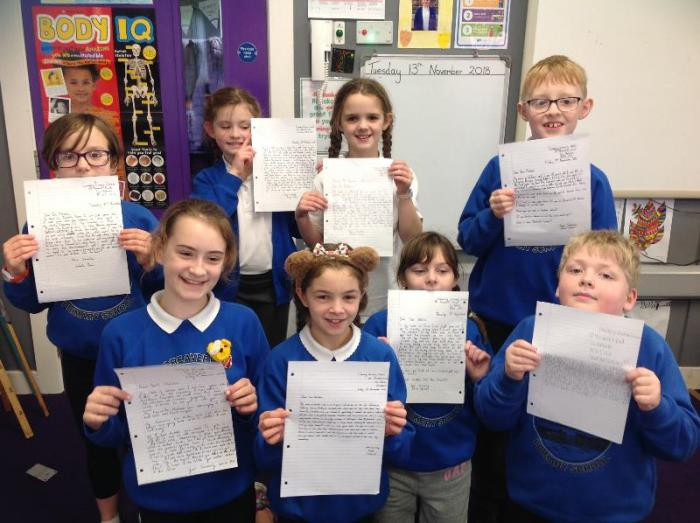 Excited to post their letters to Tom Fletcher after reading his amazing book, The Creakers