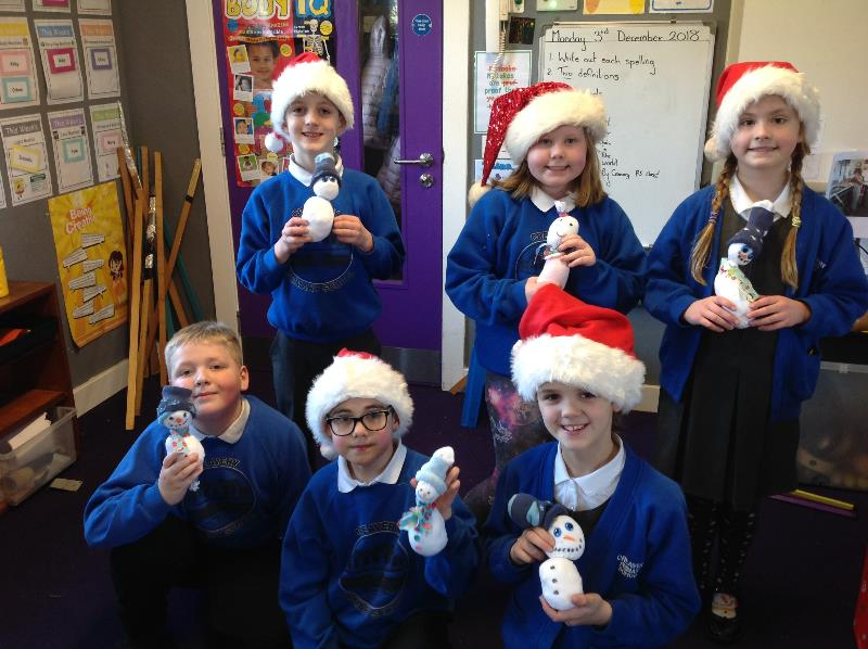 We had great fun making our very own sock snowmen
