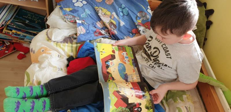 Zack reading