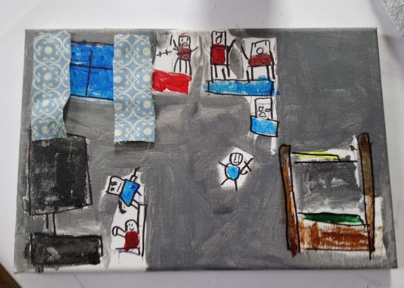 Canvas and mixed media