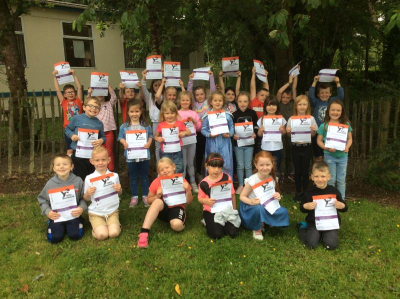 The children received their certificates for taking part in the Young Enterprise Programme this year.