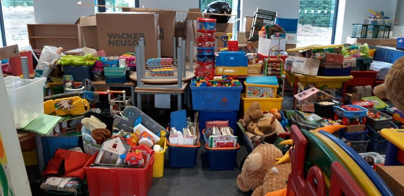 All this play equipment and toys now need a home...