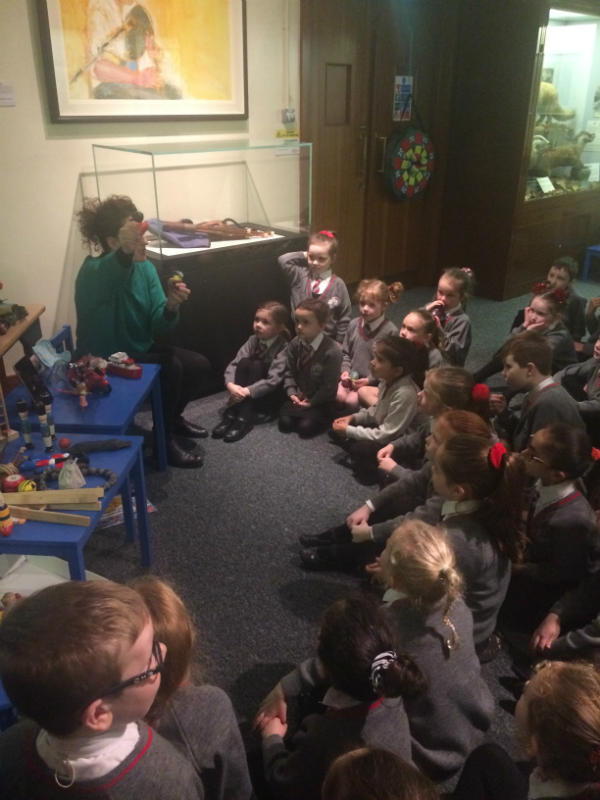 Here we are learning about toys from long ago.