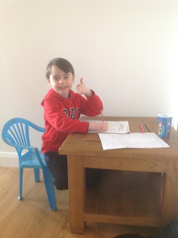 Ethan completing his Numeracy work 👍