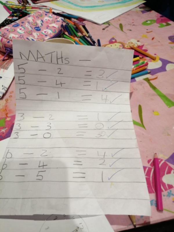 Super math work ➖✔️