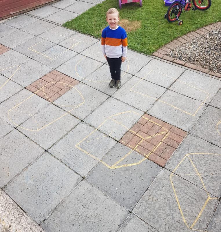 James making shapes