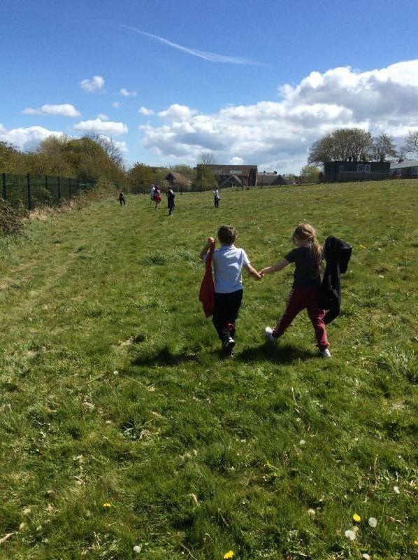 Our 'Mayday Mile' walk, raising money for the R.N.L.I.
