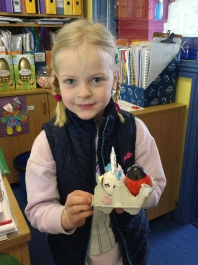 A ladybird and a unicorn