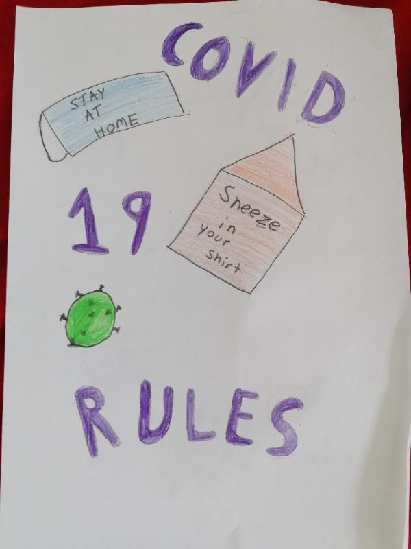 Lara's Covid poster