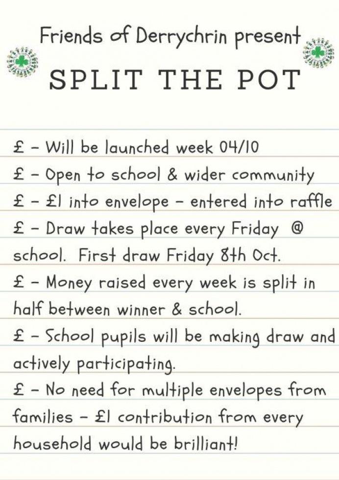 Split the Pot -Weekly Fundraiser