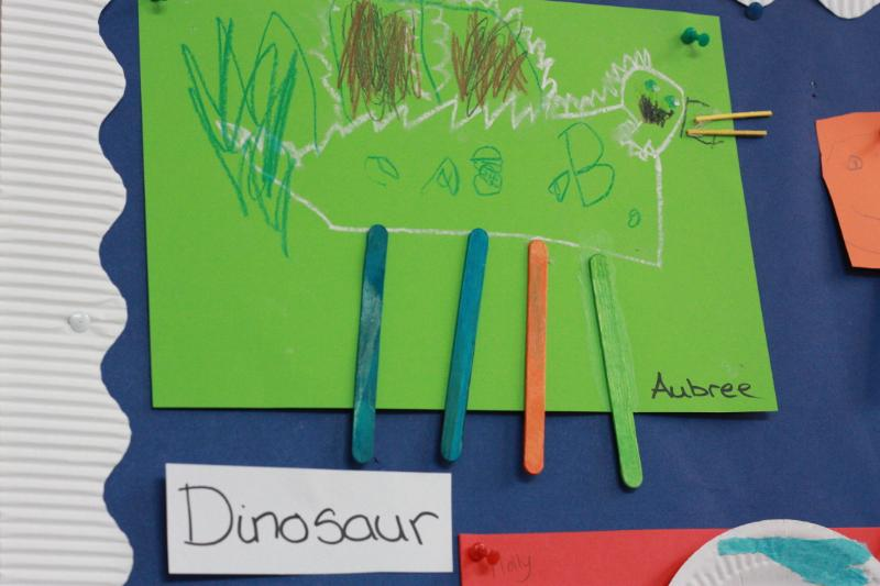Watch out for the dinosaur!