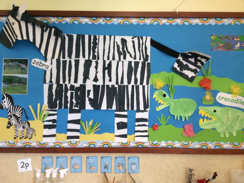 Look at the unique pattern of stripes on our zebra!