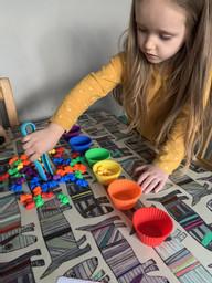 Aliya practising her counting!