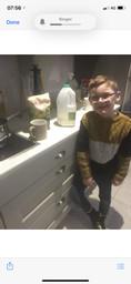 Danny making porridge for Goldilocks.