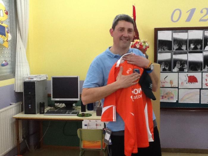 Edu Salas, Spanish teacher and his Armagh jersey!