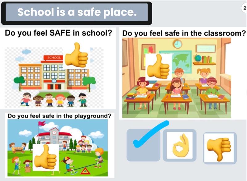 Year 3 feel safe in school.🙂