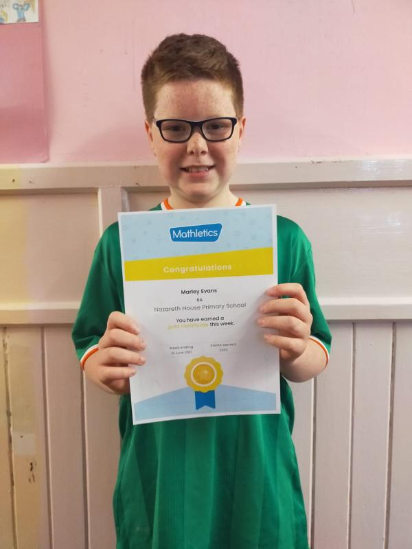 Marley worked hard on Mathletics to get his gold certificate before he leaves us next week!