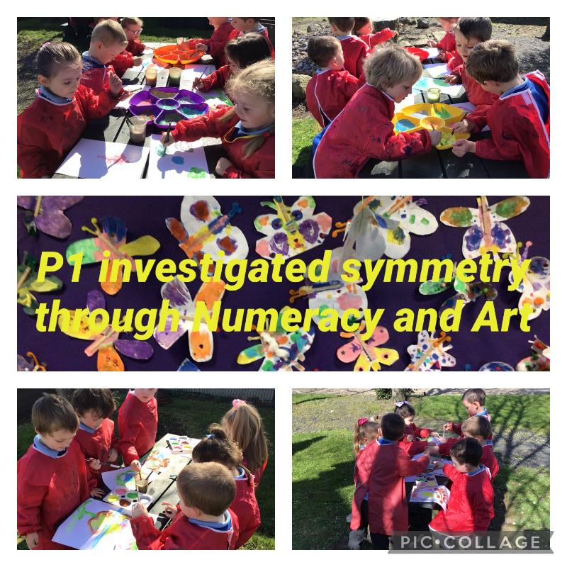 P1 used outdoor art to investigate Symmetry.