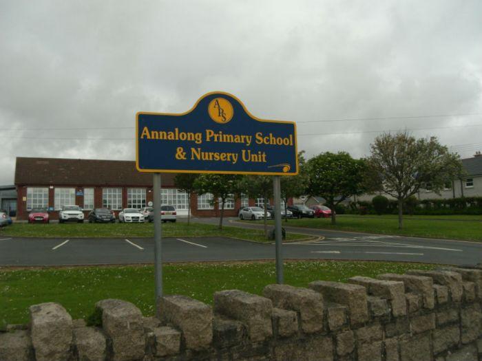 Front view of school