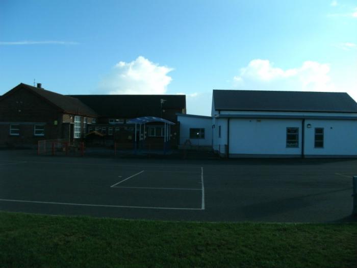 Rear view of school