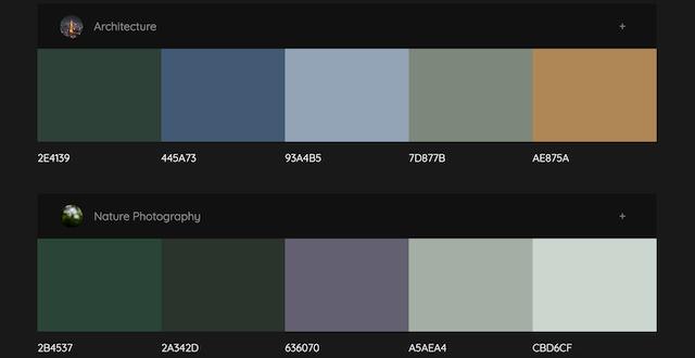 Colormind テーマカラーパレット