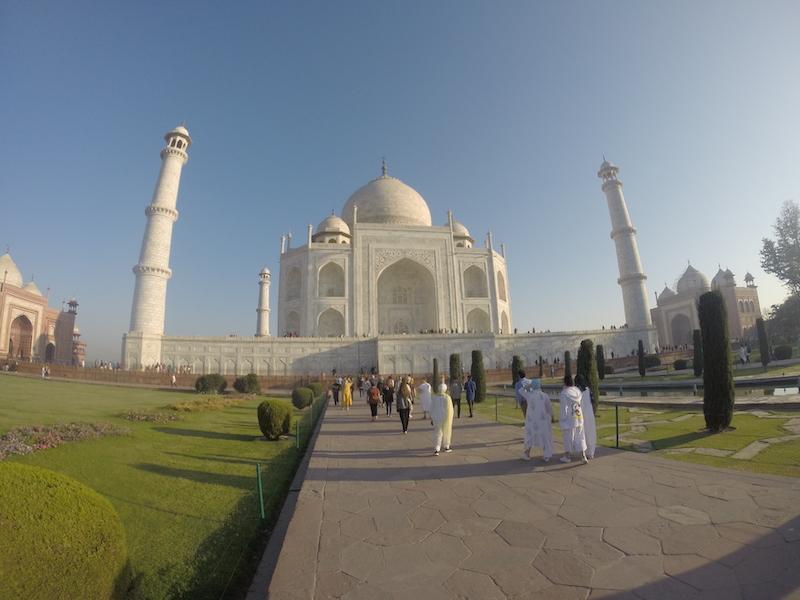 Visitar el Taj Mahal - Panoramica del Taj Mahal