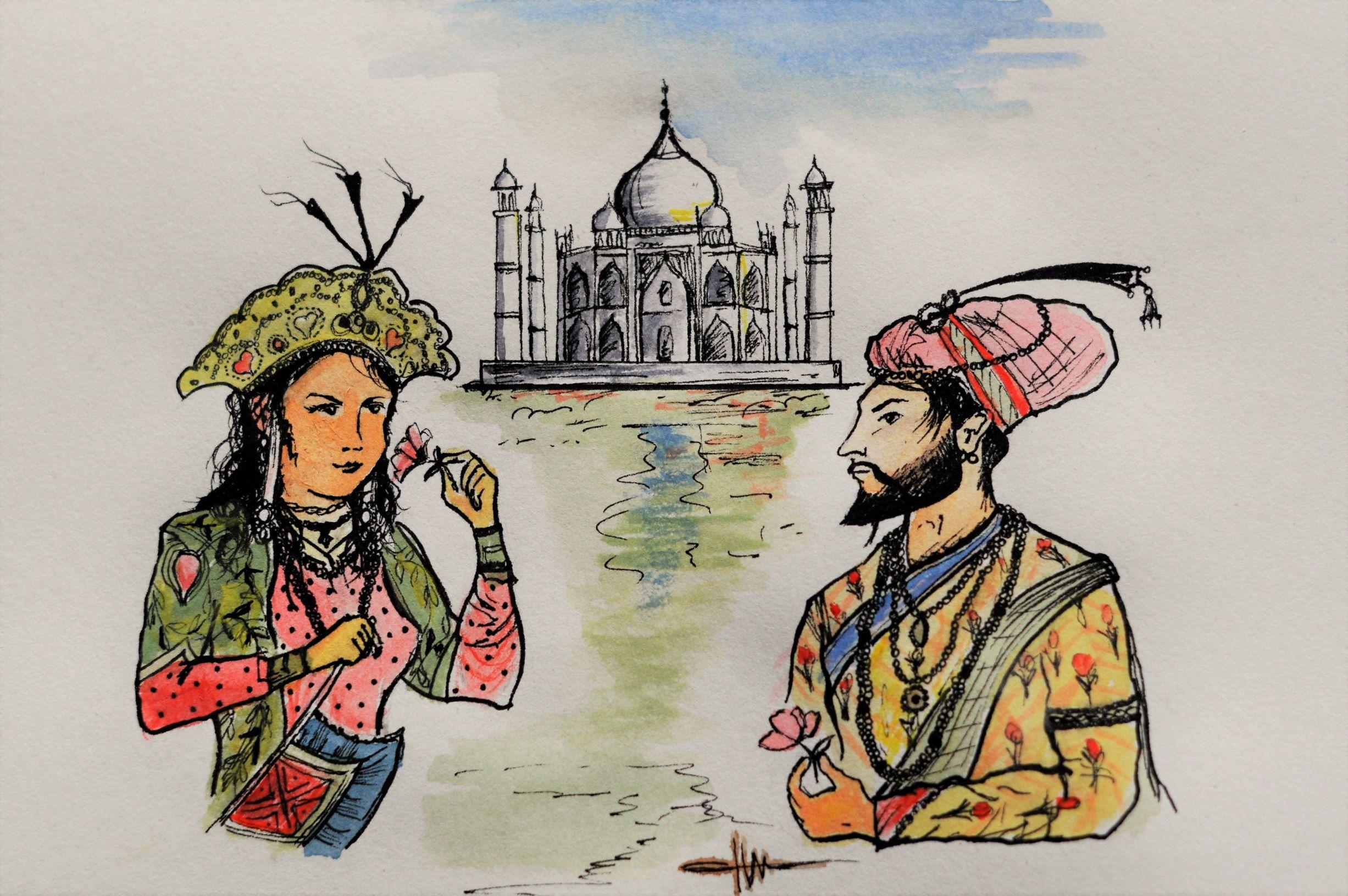Visitar el Taj Mahal - Dibujo Taj Mahal
