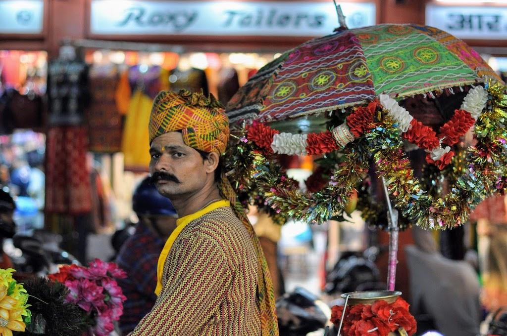 viajar a Jaipur - vendedor indio