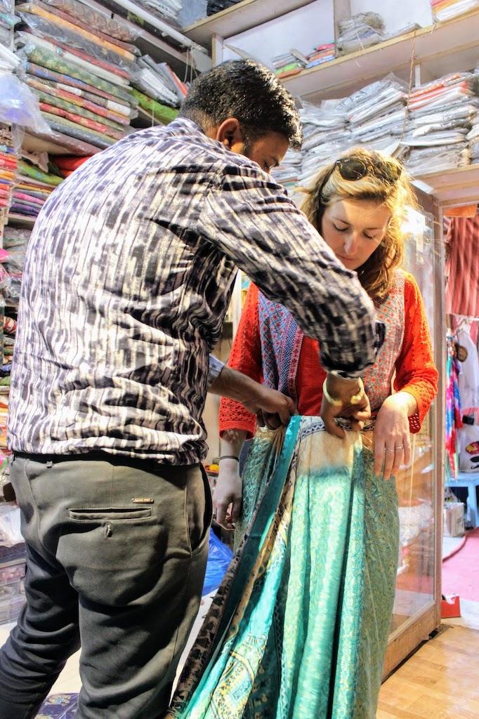 viajar a Jaipur - tomando medidas