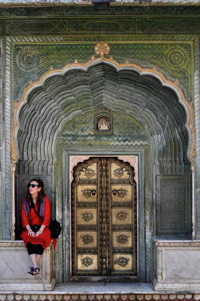 viajar a Jaipur - puerta del palacio
