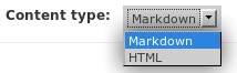 Content Type Selector