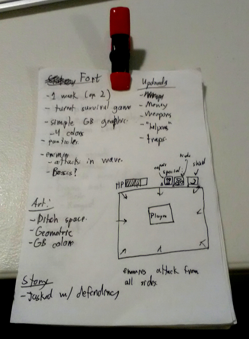 "One of my game design ""documents."""