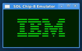 IBM Logo ROM in my emulator.
