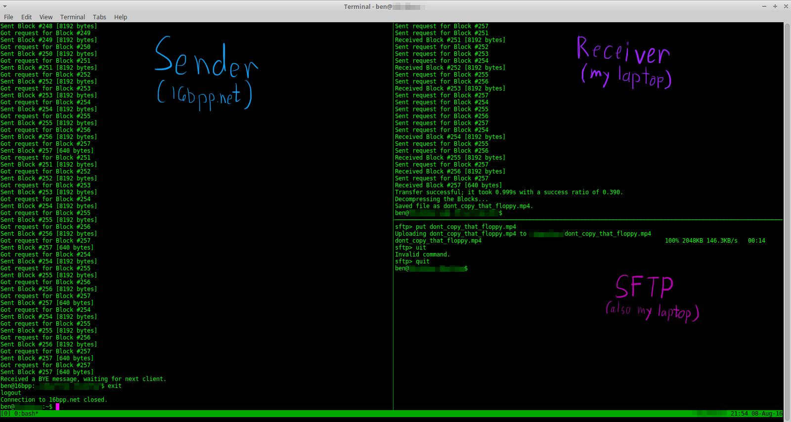 UDP File Transfer Screenshot