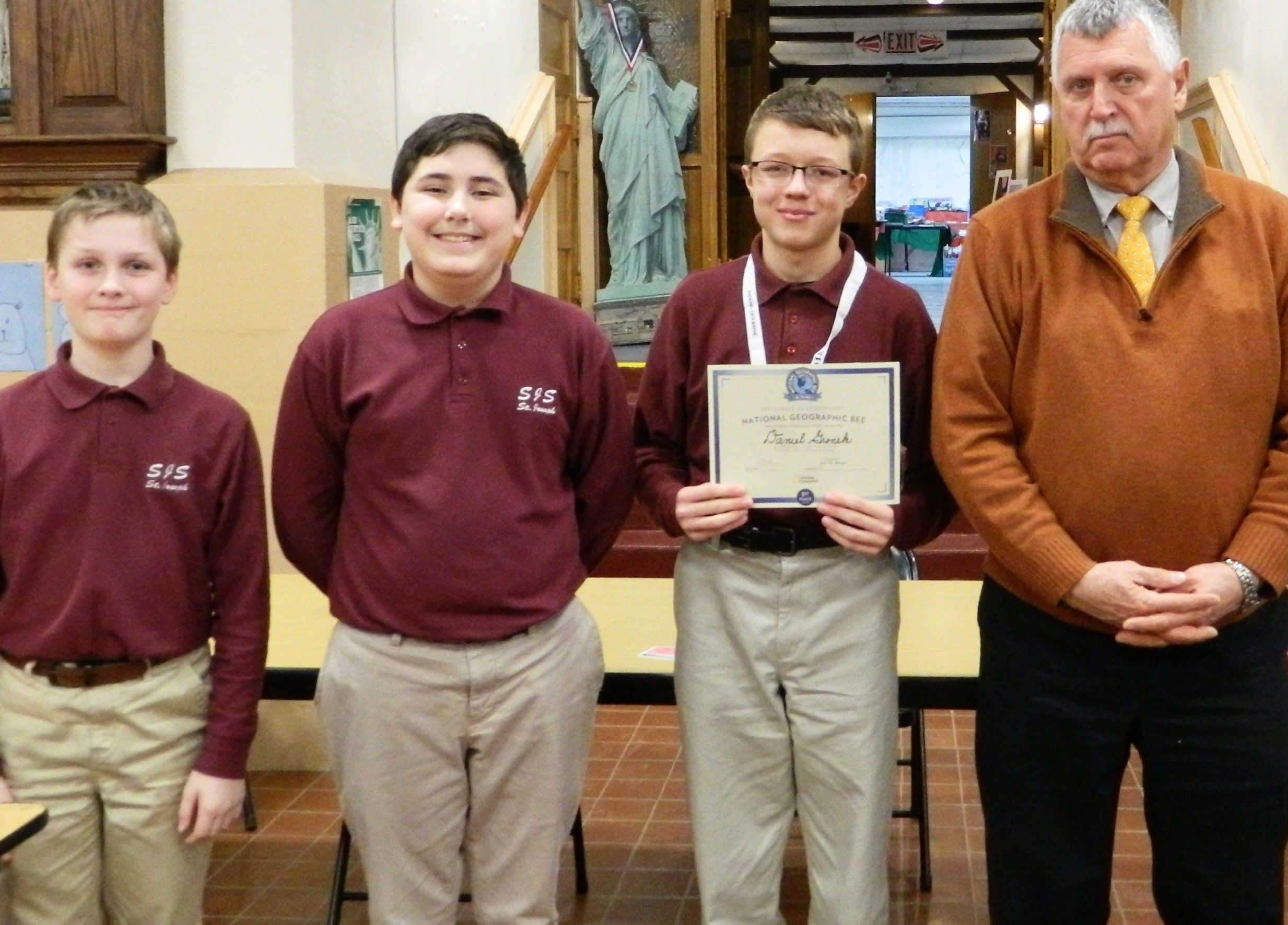 2018 SJS Geography Bee Results